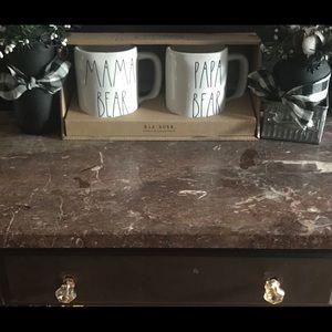 NWT Rae Dunn Mama Papa Bear Mug Set